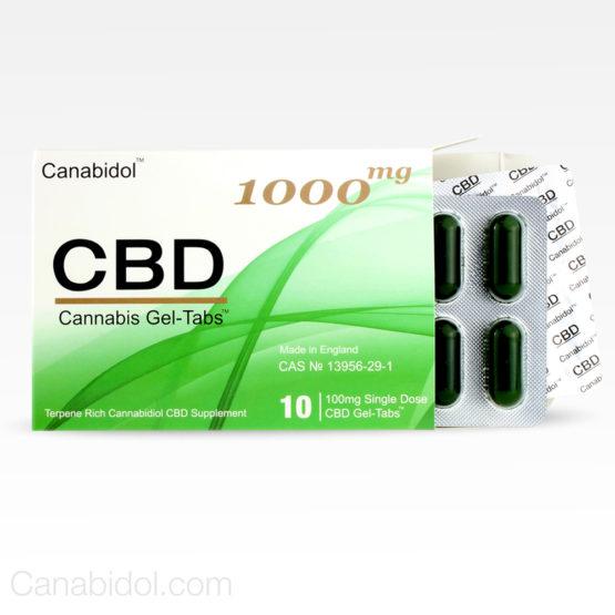 Cananbidol CBD Cannabis Gel-Tabs 1000mg 10's