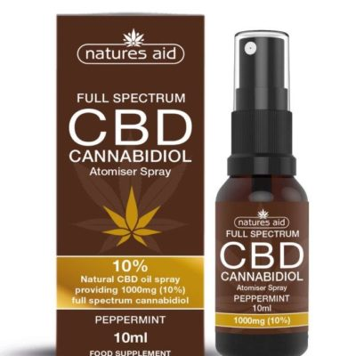 Natures Aid CBD Oil 10% Spray (Peppermint Flavour) 10ml