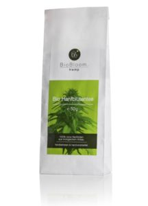 BioBloom Organic Hemp Flower tea in bags