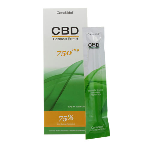 CBD Cannabis Extract 750mg (Syringe) 75% 1ml
