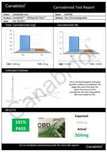 CBD Cannabis Oil 500mg 10ml test