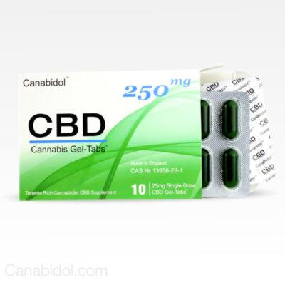 Canabidol CBD Cannabis Gel-Tabs 250mg 10's