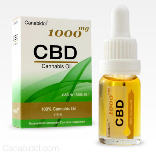 Canabidol CBD Cannabis Oil 1000mg 10ml