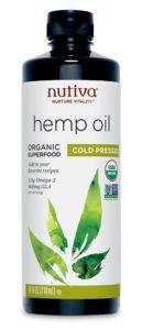 Nutiva's raw hemp oil