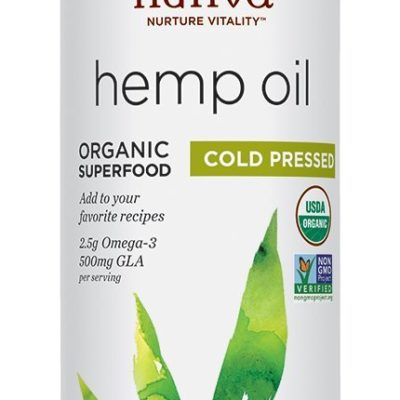 Nutiva's raw hemp oil