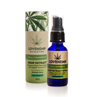 Love Hemp® 400mg CBD Oil Spray – 30ml