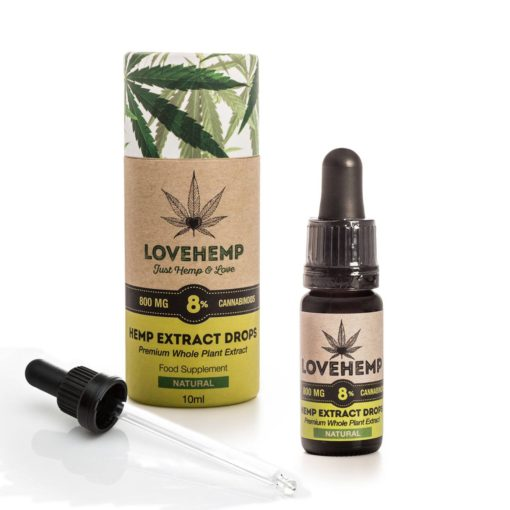 Love Hemp 800mg 8% CBD Oil 10ml