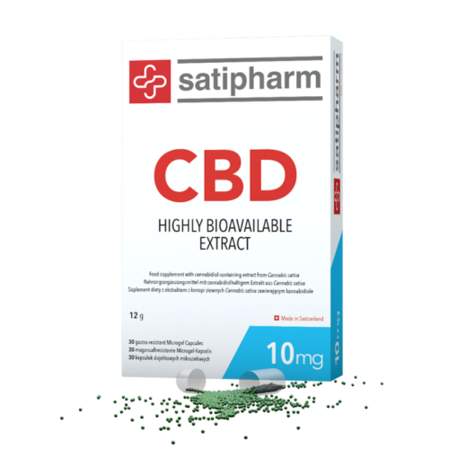 Satipharm CBD 10mg Gelpell® 30 Microgel Capsules