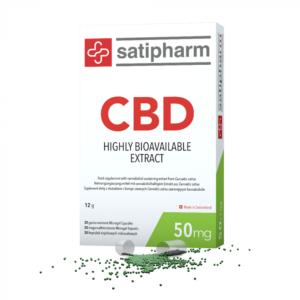 Satipharm CBD 50mg Gelpell® 30 Microgel Capsules